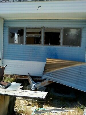 CABIN TINY HOUSE TRAILER  trashed mobile home
