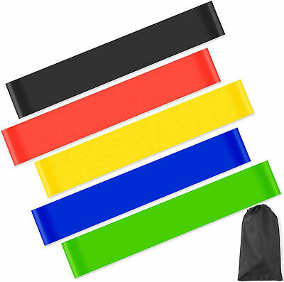 Resistance Exercise Loop Bands Home Gym Fitness Natural Latex Set Or Single