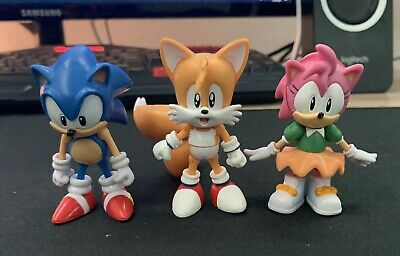 Jazwares Classic Sonic Tails And Amy Figure Lot Sonic The Hedgehog Toys 27 00 Picclick