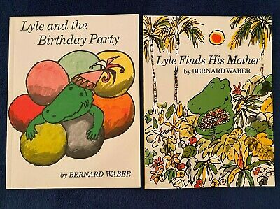 2 Lot Children's Picture Books Bernard Waber: Lyle the Crocodile Series PBs NEW