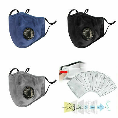 Universal Face Cover Reusable PM2.5 Activated Carbon With Filter Washable lot