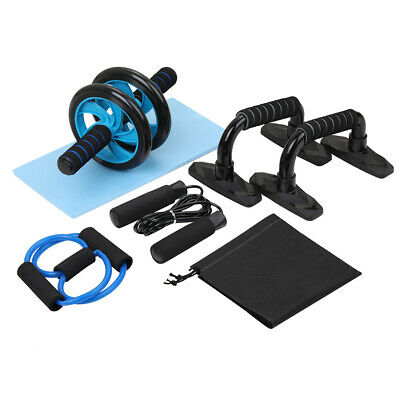 Abdominal Mute Roller Exercise Wheel Core Fitness Muscle Trainer Ab Roller SET