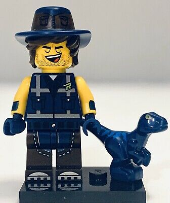 with Blaster and Blue Raptor LEGO The Movie 2 Minifigure 70835 Rex Dangervest