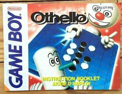 Notice Seule Othello Nintendo Gameboy Pal Fra Fah Booklet Anleitung Instructions