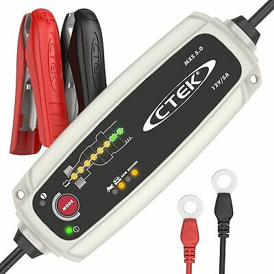 CTEK MXS 5.0 Fully Automatic Battery Charger (Charges, Maintains and