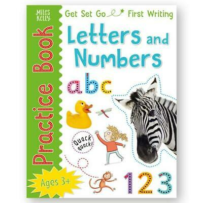 First Writing Letters and Numbers Practice Book for 3-5 Years Kids, 96 Pages