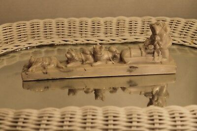 Pearlite Marblecraft Eskimo Husky`s  Dog Sled 9 Inches Long Made In Canada