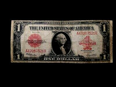 # A47067521B Series 1923 $1 US Note Red Seal VG