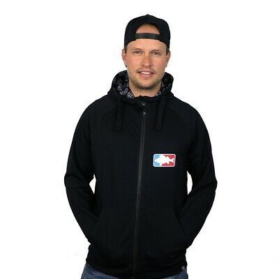 "#LMAB Zipped Stoffjacke ""National Fishing League"" schwarz"