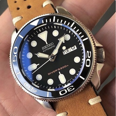 FLAT SAPPHIRE CRYSTAL GLASS for SEIKO SKX007 SRPD -- CT025