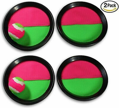 Paddle Catch Toss and Catch Ball Game Set! Sticky Ball game (2 Pack)