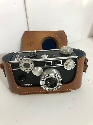 Vintage Argus Rangefinder Camera With Original Case Steampunk Art Untested