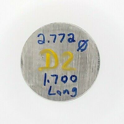 """D-2 Tool Steel Round Mold Steel Round Bar stock  2 3/4"""" OD x 1.700 Long"""
