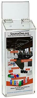 """SOURCEONE.ORG Premium Auto Window 4 Inch Wide Info Box with Hook and"""" Take"""" Stic"""