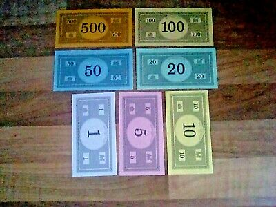 Monopoly Money ...25 Assorted  Notes ... Buy 2 Get 1 Free ...