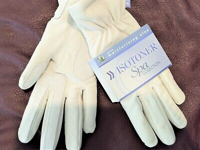 """Isotoner Gloves Women Cream Small """"Spa"""" with Aloe moisturizer New MSRP $48"""