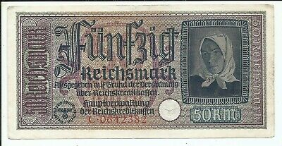 1940-1945 Germany Occupied Territories 50 Reichsmark Note C0642382