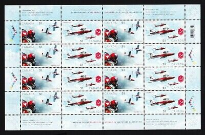 Canadian MILITARY AIR FORCES = SNOWBIRDS = MiniSheet of 16 Canada 2006 #2159a