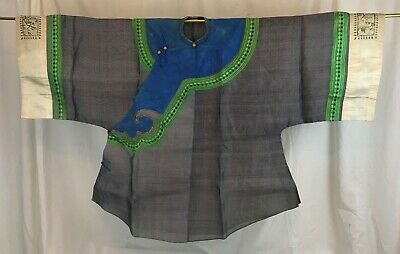 Chinese Summer Robe. Gauze and Embroidery. Late Qing.