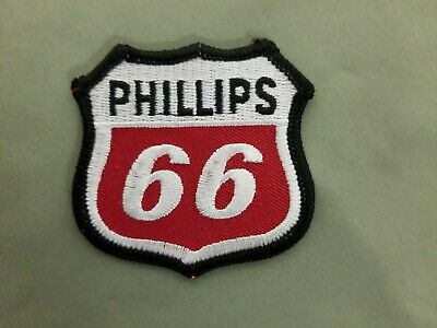 Phillips 66 Embroidered Iron On Patch