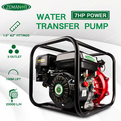 "ETOSHA Water Transfer Pump 8HP 1.5 ""&2"" High Pressure Petrol Irrigation 4 Stroke"