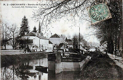 39 // Orchamps // Bords Du Canal Animee Peniche 1906