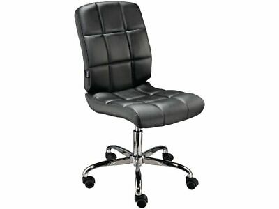 Black Weston Faux Leather Designer Office Task Chair - Work From Home Solution!