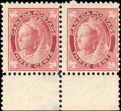 1898 Mint NG Canada PAIR F Scott #69 3c Maple Leaf Issue Stamp