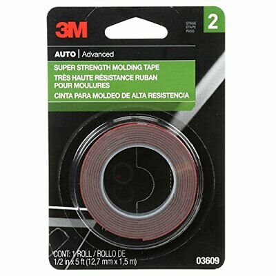 3M Super Strength Molding Tape 03609 1/2 in x 5 ft
