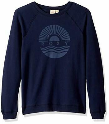 Roxy Girls' Big Two Princesses Crewneck Sweatshirt, Mood, Mood Indigo, Size 16 U