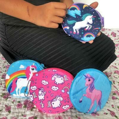 Unicorn Rainbow Coin Purse For Kids Girls Birthday Party Gift Costume Fancy
