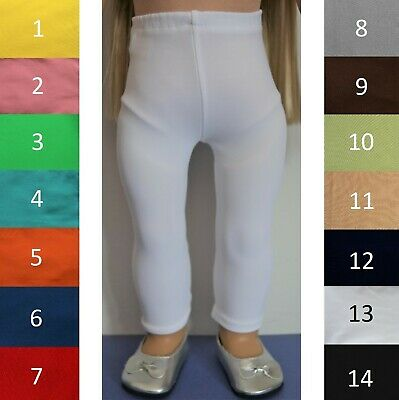 """Handmade Doll Clothes Leggings Tights Pants Colors fit 18"""" American Girl Dolls"""