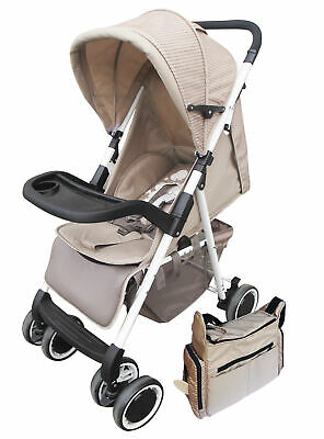AmorosO No.26782 Brown Convenient Stroller with Diaper Bag