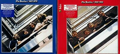 The Beatles RED & Blue Combo Deal 4 CD Set  New Sealed Fast Free Shipping