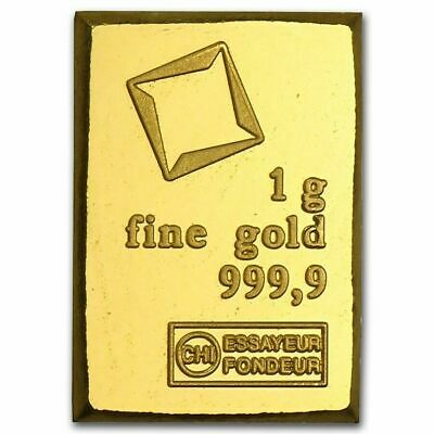 Avc- 1 Gram Gold Valcambi Suisse .9999 Fine Bars Assay - From Combibar