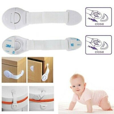 10 pcs Baby Safety Drawer Locks Child Security Protection Anti-clip Lock
