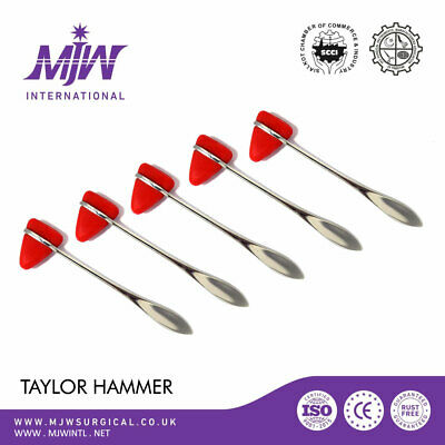 TAYLOR HAMMER Percussion Reflex Tendon PHYSIOTHERAPY Neurology Rubber Head CE