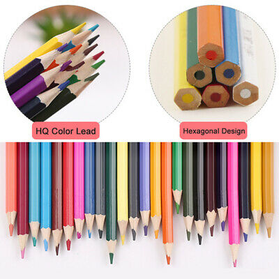 12Colors Colored Pencils Set Drawing Soft Core For Art Supplies Crayon Non-Toxic