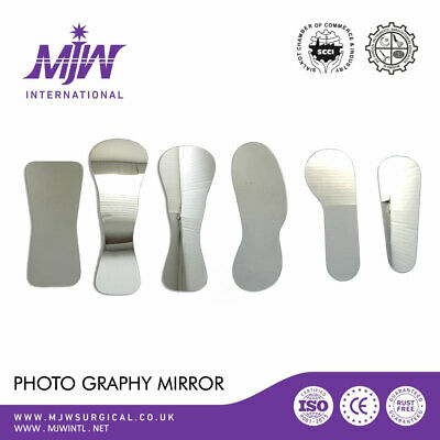 6 PCS Stainless Steel Dental Orthodontic  Photography Mirrors Reflector