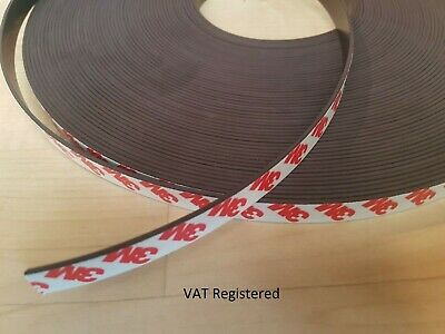 3M Self Adhesive Magnetic Tape 12mm 15mm 20mm 25mm x1.5mm thick in chosen length