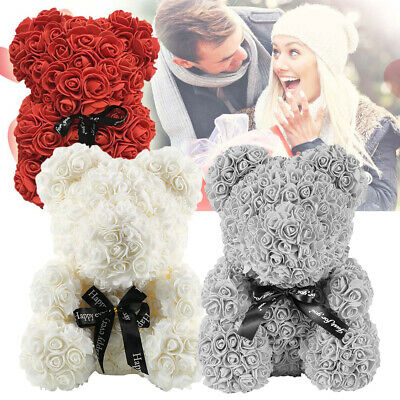 Rose Bear Teddy Bear Large Huge Luxury Foam Birthday Wedding Girl's Gift NEW UK