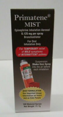 Primatene Mist Inhaler Asthma Temporary Relief 160 Metered Sprays Exp 12/21 New