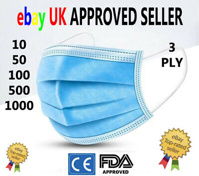 🔥Surgical Face Mask -  3Ply Disposable Face, Mouth & Nose Protection Masks🔥