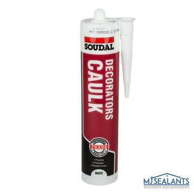 Soudal Acrylic Decorators Caulk Quick Dry White Waterproof After Curing 290ml