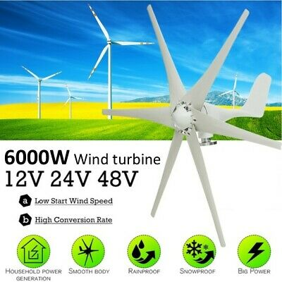 6000W 12/24/48V wind generator charger free energy electricity Motorhome mobile