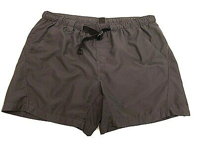 Men's THE NORTH FACE Gray Shorts Belted & Lined Hiking Swim  XL  Nylon Charcoal