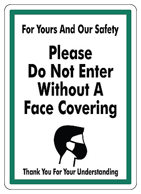 OSHA NOTICE - FACE MASK/COVERING REQUIRED | Adhesive Vinyl Sticker Sign