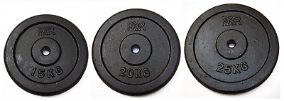 """Cast Iron Weight Plates Discs Standard 1"""" Hole Barbell Dumbbell"""