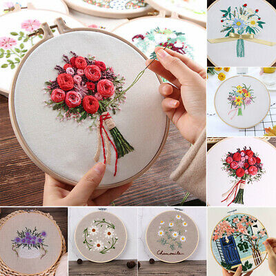 Flower Style Stitch Punch DIY Weave Craft Sewing Tool Embroidery Pen Needle Kit