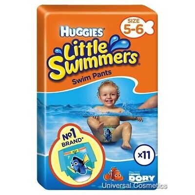 Huggies Little Swimmers Baby Swim Nappies 12kg - 18kg Size 5-6 Pack of 11